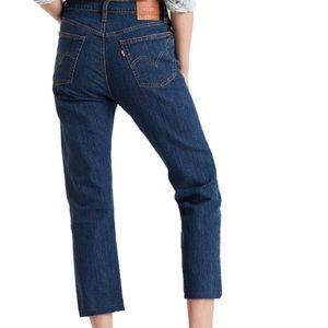 NWOT $104 LEVI'S 501 Original Crop Blue Jean 28
